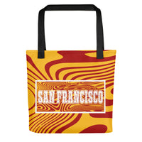 ThatXpression Desinger Swirl San Francisco Sports Themed Versatile Use Tote bag