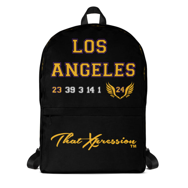 ThatXpression's Mamba Jersey Black City Themed Los Angeles Tribute Backpack