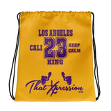 23 King Los Angeles Tribute Drawstring Bag by ThatXpression - ThatXpression