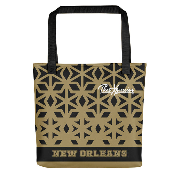 ThatXpression Fashion Fitness Multi Colored Diamond New Orleans Fan Tote