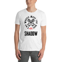 ThatXpression Fashion Fitness Unisex Two Wheels Move The Soul Inspired Shadow Tee