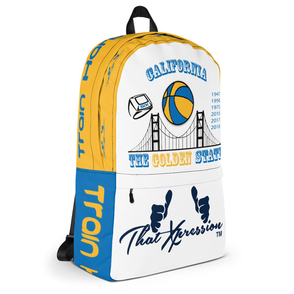 California Golden State Warriors Themed Laptop Fitness Backpack by ThatXpression