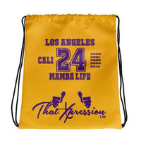 ThatXpression Fashion Fitness California 24 Kobe Inspired Mamba Life Laptop Gym Fitness Backpack