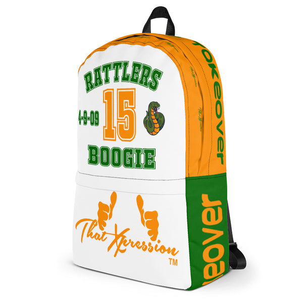 FAMU Leflore Rattlers Color Schemed Boogie Inspired Laptop Gym Backpack by ThatXpression