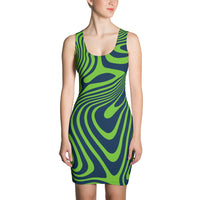 ThatXpression Fashion Fit Designer Seahawks Theme Swirl Dress