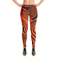 ThatXpression Fashion Fitness Cincinnati Themed Swirl Leggings