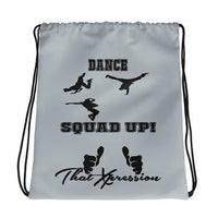 Urban Hip Hop Black Grey Dance Fitness Squad Up! Backpack by ThatXpression - ThatXpression