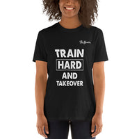 ThatXpression Fashion Fitness Train Hard Motivational Gym Workout Short-Sleeve T-Shirt