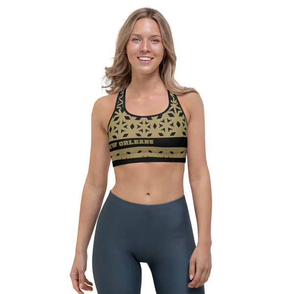 New Orleans Gym Fitness Yoga Sports Bra by ThatXpression