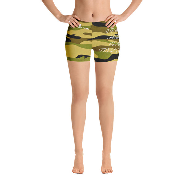 ThatXpression Fashion Fitness Army Camouflage Train Hard And Takeover Gym Workout Shorts