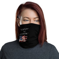 "ThatXpression Fashion Fitness ""I Can't Stay Home I'm A Doctor"" Black Face Mask"