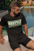 ThatXpression Designer Swirl His & Hers Seattle Sports Themed Fitted Dress