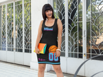 ThatXpression Fashion Fitness Miami Themed Miami Vice Fitted Dress