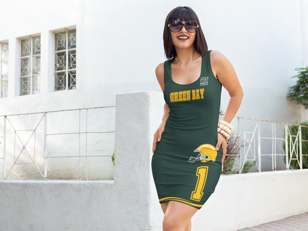 ThatXpression Fashion Fitness His & Hers Green Bay Superfan Themed NFL Dress