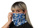 ThatXpression Fashion Navy Silver Camo Themed Neck Gaiter