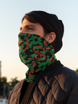 ThatXpression Fashion Black Green Brown Camo Themed Neck Gaiter