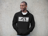 Unisex Gym Casual Train Hard Hoodie Black White Logo by ThatXpression