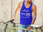 Built for Spin Gym Fitness Black Navy Unisex Tank Top by ThatXpression