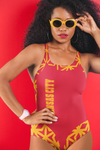ThatXpression Fashion Kansas City Home Team Diamond Themed One-Piece Swimsuit