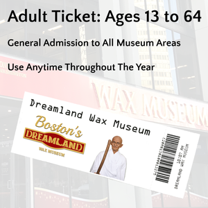 Adult Ticket: Ages 13 to 64