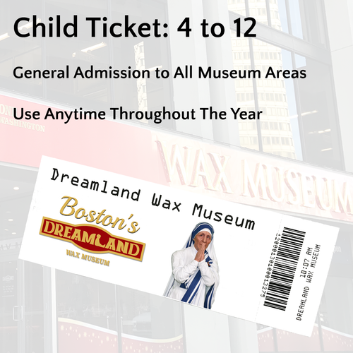 Child Ticket: Ages 4 to 12