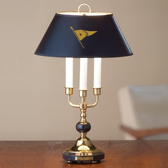 M.LaHart & Co. Brass & Marble Lamp