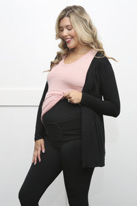 Maternity Bundle: Leggings + Cardigan