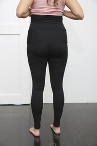 Maternity Leggings with Built-In Supportive Belt