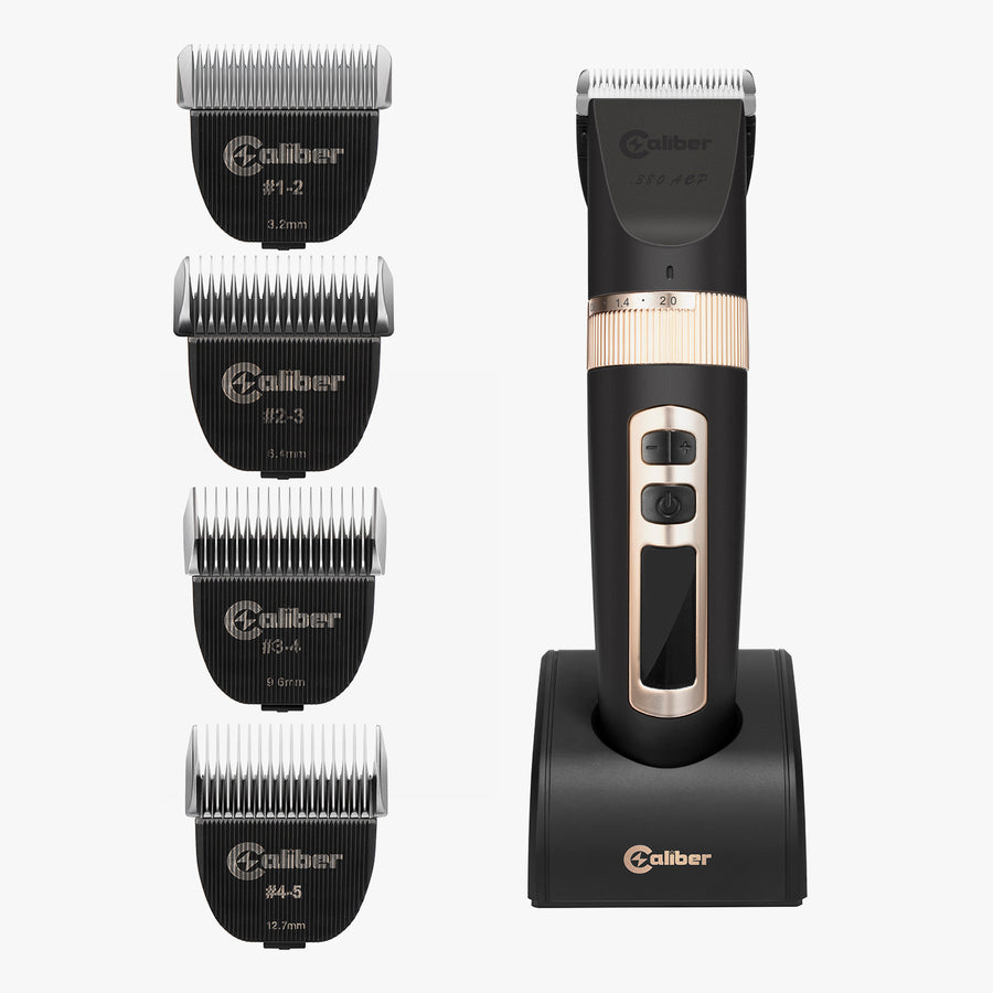 Caliber .380 ACP professional clipper kit with five blades set
