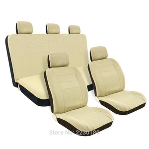 8PCS Mesh Car Seat Covers Full Set Airbag Compatible Detachable Headrests