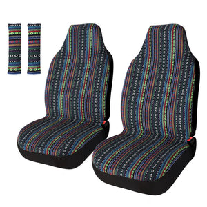4pc Universal Stripe Colorful Baja Blanket Bucket Seat Covers
