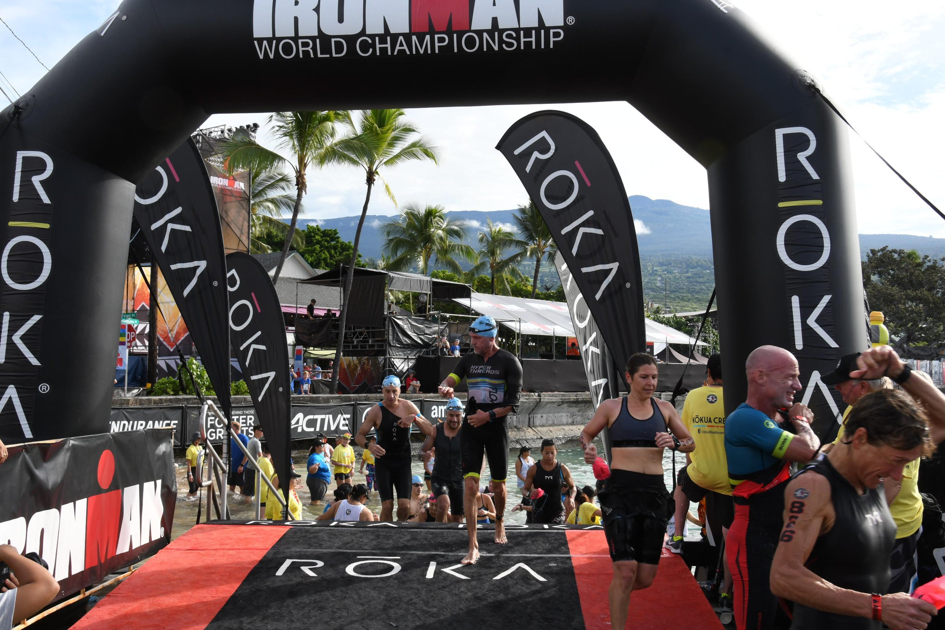 Ironman World Championships Kona Swimming Finish