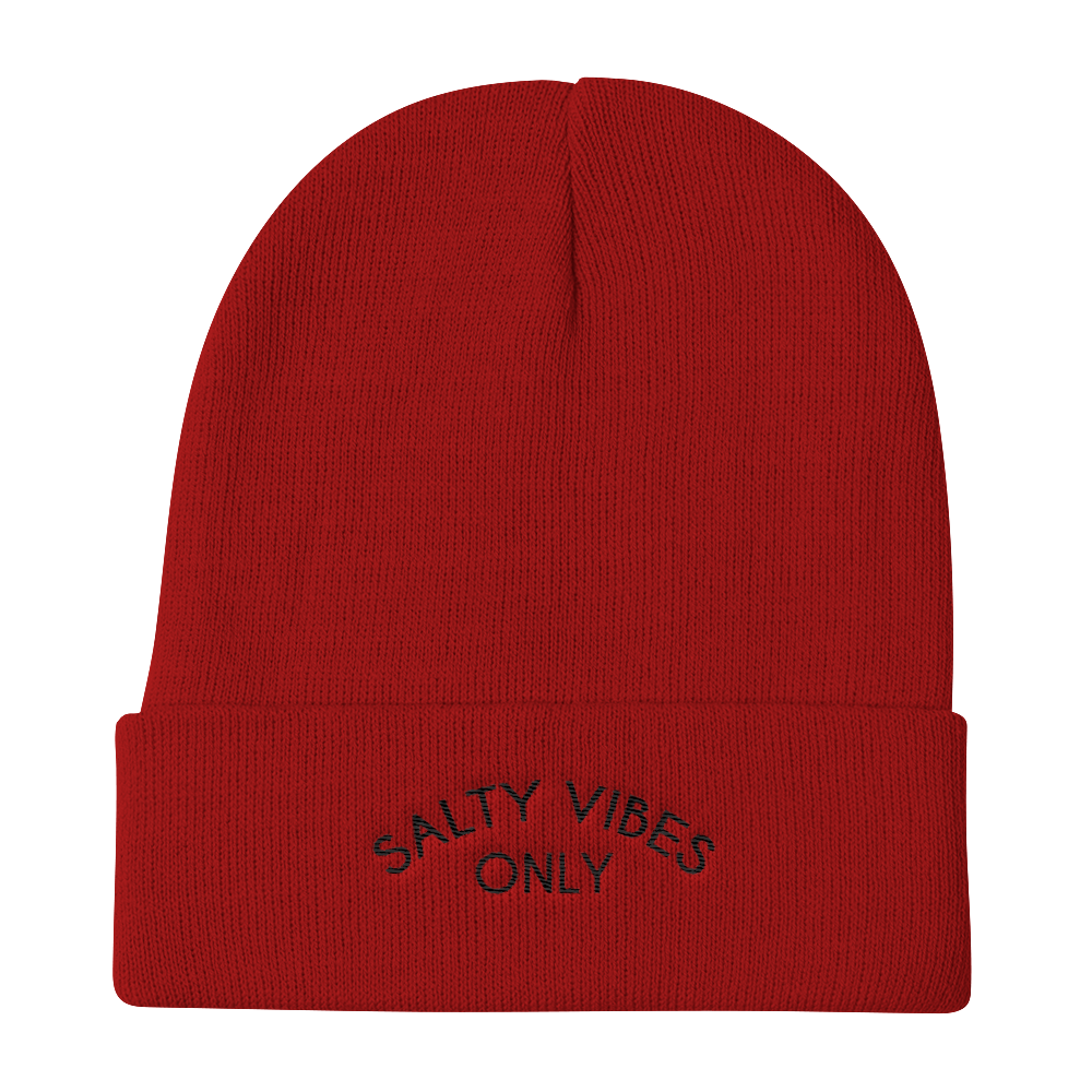 Salty Vibes Only Knit Beanie