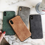 Suede & Chic iPhone Case