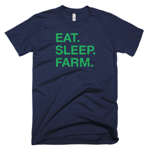 """Eat. Sleep. Farm."" Short-Sleeve T-Shirt"