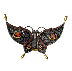 Garnet & Spinel Black Butterfly Ring