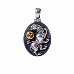 Leo Pendant with Citrine Gemstone