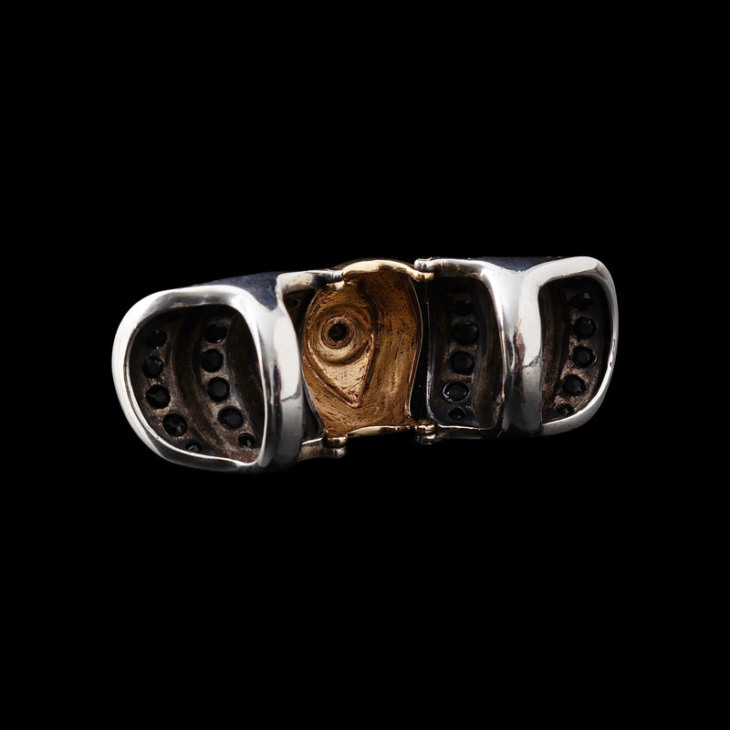 Armor ring with hinges