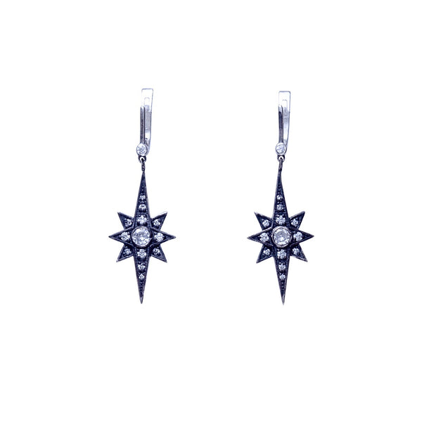 Small North Star Earrings