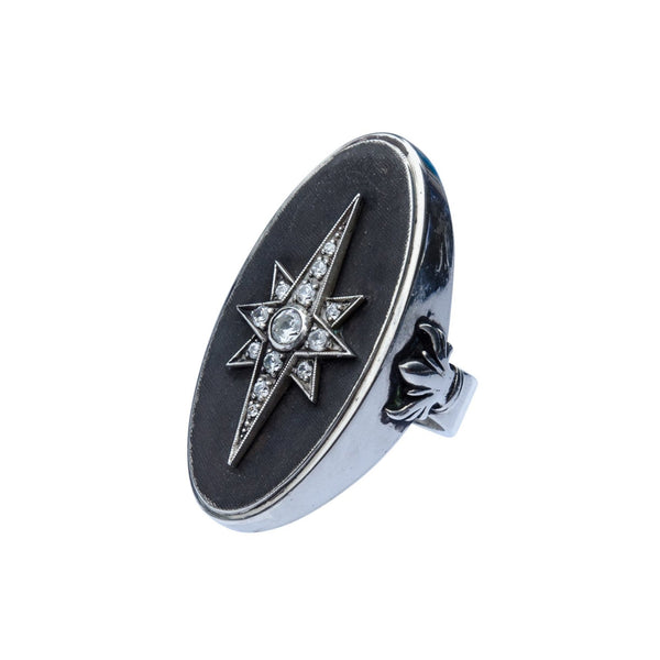 North Star Ring with jewels