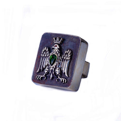 Imperial Eagle Ring in Silver