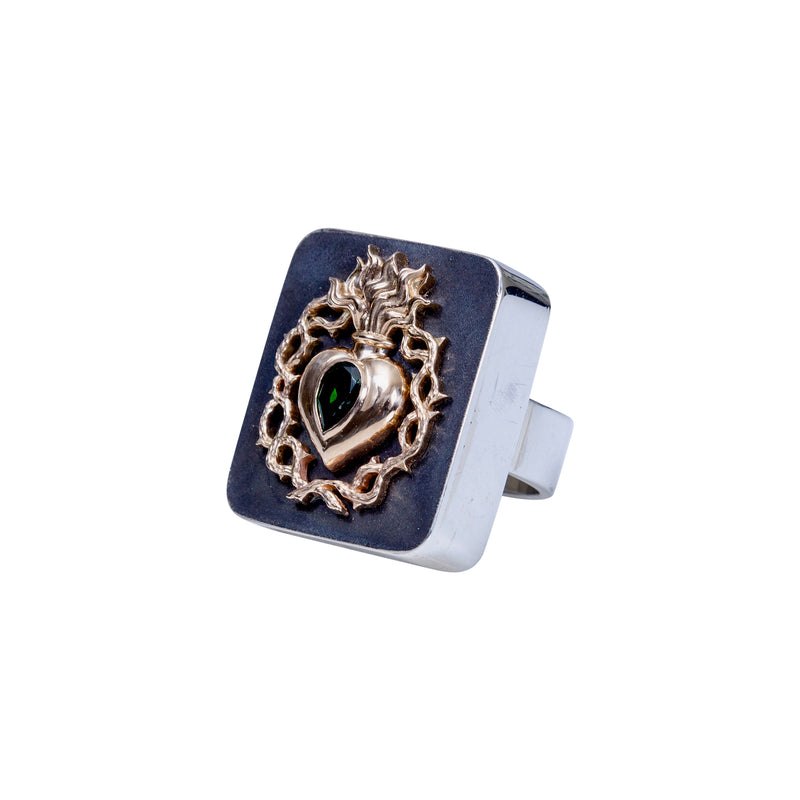 Golden Sacred Heart Ring