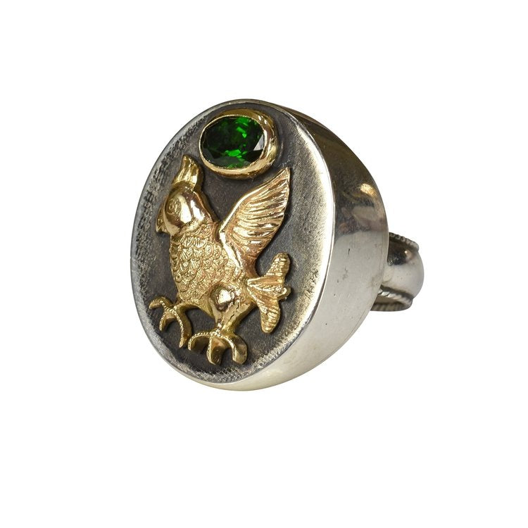 Golden Parrot Ring