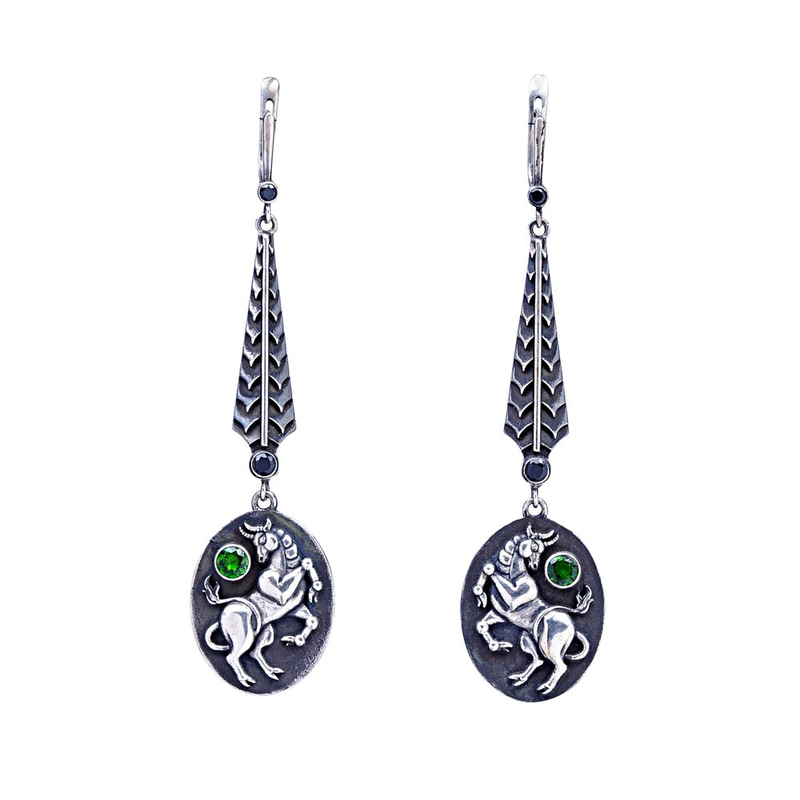 Long Taurus Earrings