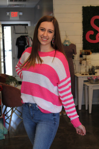 As You Please Pink Stripe Top