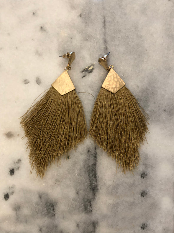 Catching Feelings Fringe Earrings