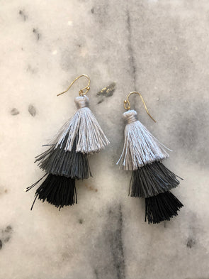 Storm Warning Tassel Earrings