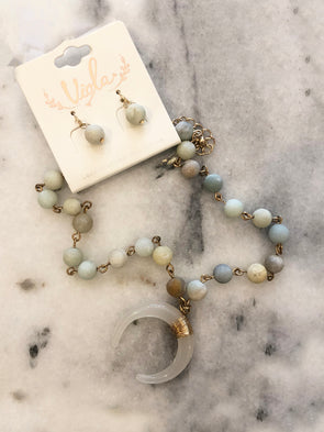 Ready to Run Beaded Necklace + Earrings