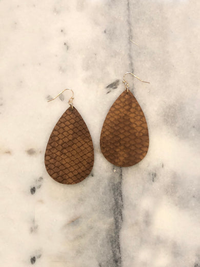 Texas Tumbleweed Brown Earrings