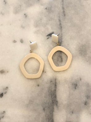 Out of This World Cream Earrings